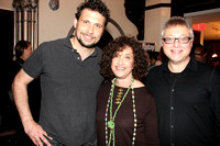 "NANCY & FILM PRODUCER MICHAEL USLAN ""FRIENDS OF THE BOOKS & BEYOND PROJECT"" CHARITY EVENT @BANGZ SALON, MONTCLAIR,NJ 1/16/11"